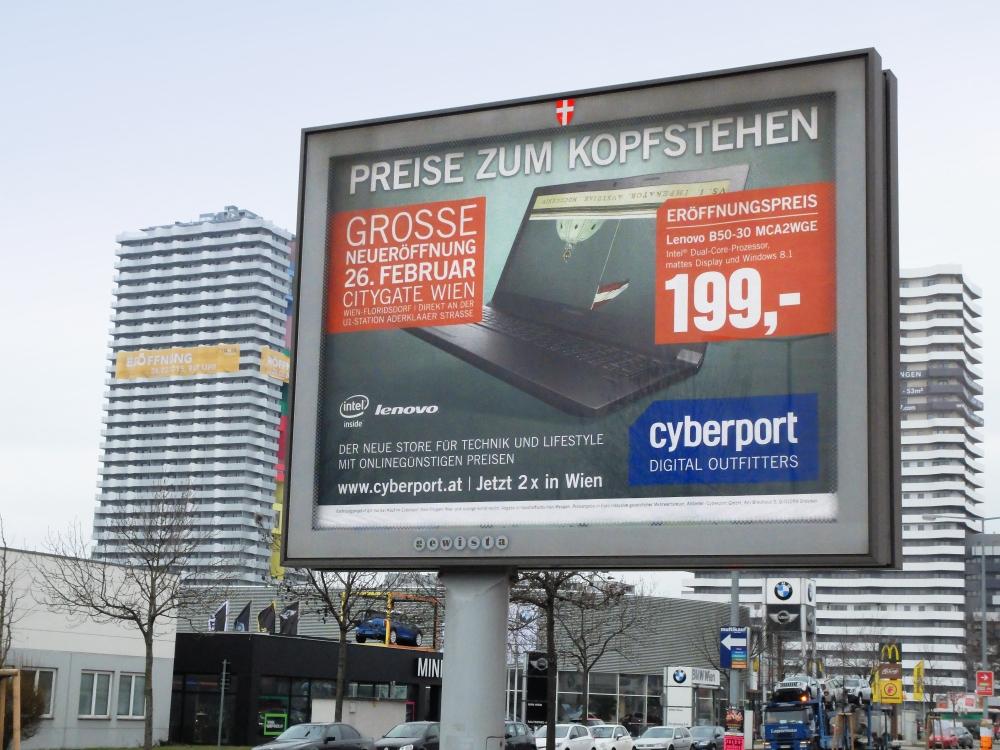 Logoform Cyberport_Wien_Produktkampagne